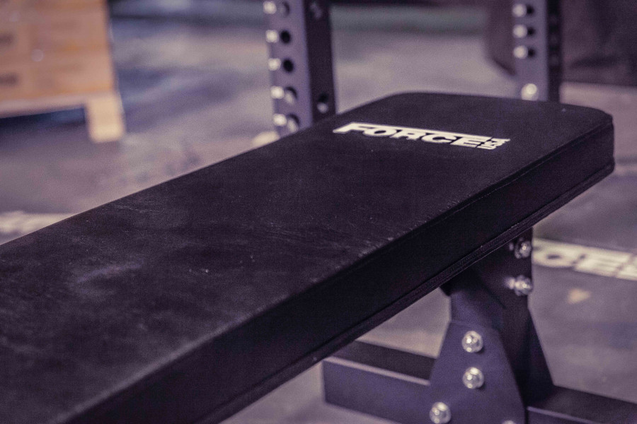 FORCE USA Heavy Duty Commercial Flat Weights Bench-28