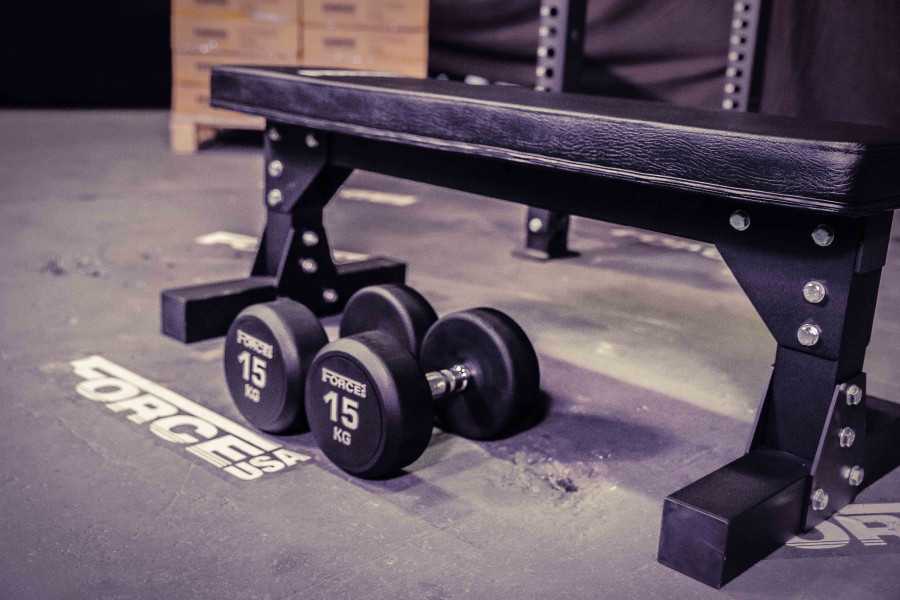 FORCE USA Heavy Duty Commercial Flat Weights Bench-19