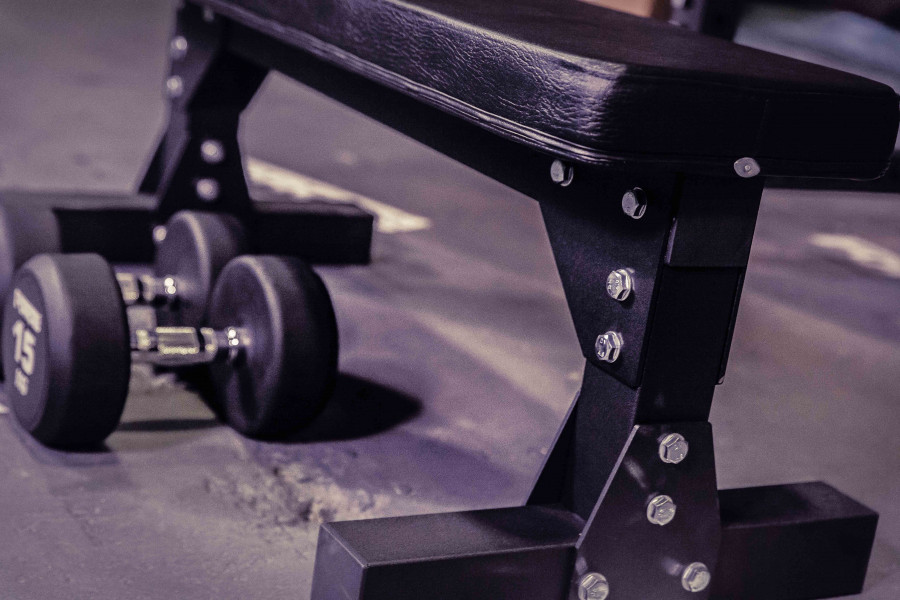 FORCE USA Heavy Duty Commercial Flat Weights Bench-22