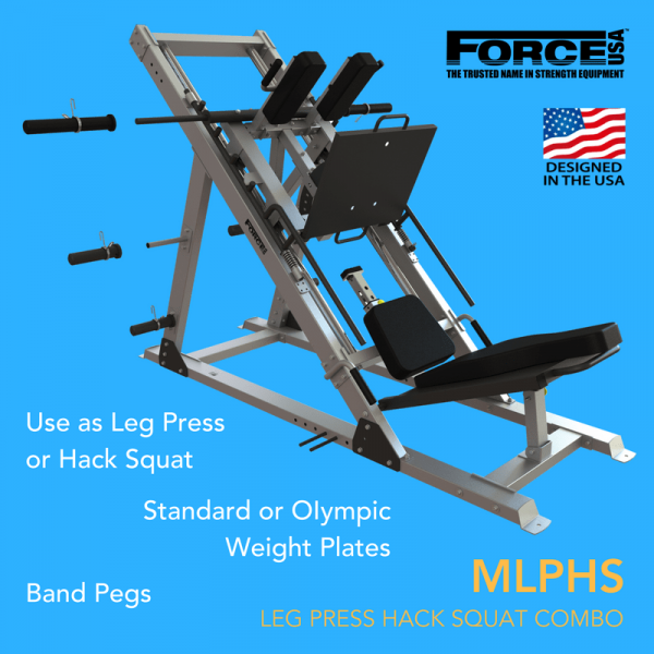 Force USA Monster Ultimate Leg Press Hack Squat Combo-34