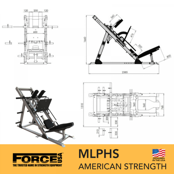Force USA Monster Ultimate Leg Press Hack Squat Combo-31