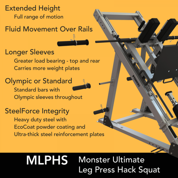 Force USA Monster Ultimate Leg Press Hack Squat Combo-25