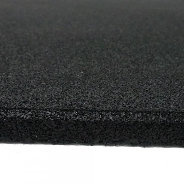 VersaFit Black Commercial Rubber Flooring Tile 1M X 1M X 15MM-24
