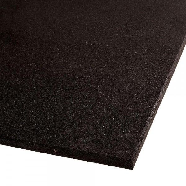 VersaFit Black Commercial Rubber Flooring Tile 1M X 1M X 15MM-15