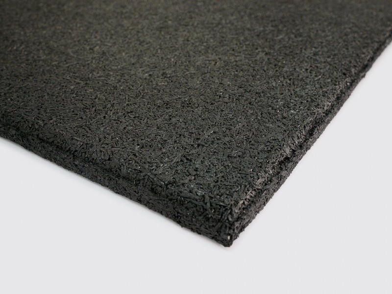 VersaFit Black Commercial Rubber Flooring Tile 1M X 1M X 15MM-19