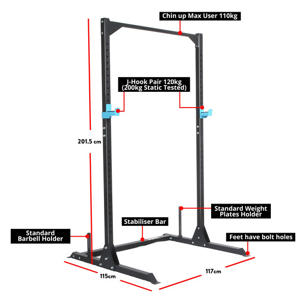 Force USA Home Half Rack, Squat Stand and Chin Up-7