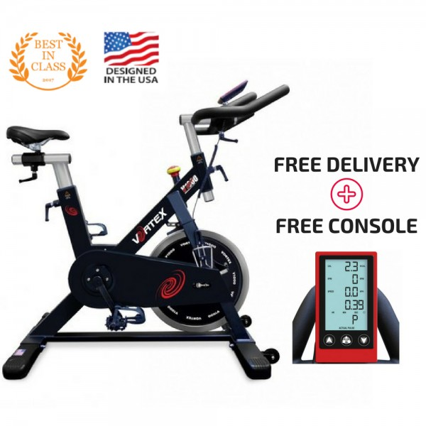Vortex V1000 Commercial Grade Spin Bike With Free LCD Monitor-1