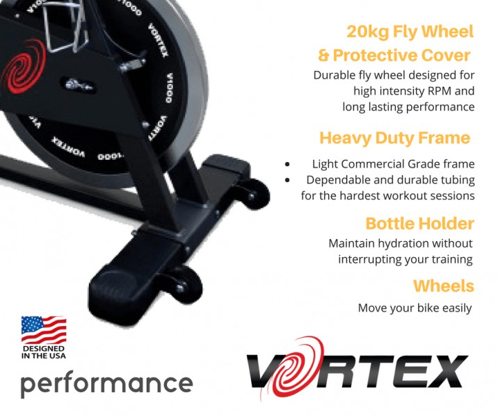 Vortex V1000 Commercial Grade Spin Bike With Free LCD Monitor-10