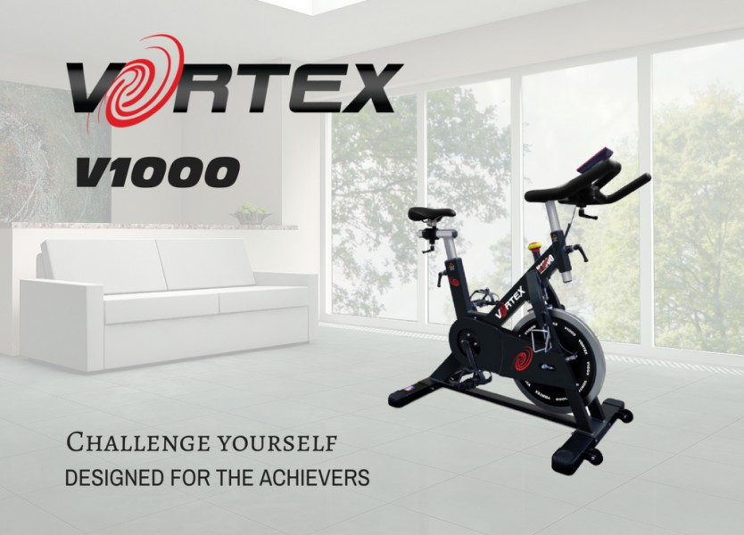 Vortex V1000 Commercial Grade Spin Bike With Free LCD Monitor-19