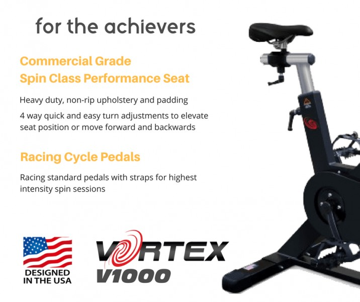 Vortex V1000 Commercial Grade Spin Bike With Free LCD Monitor-16