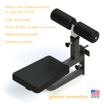 FORCE USA - ADJUSTABLE SEAT ATTACHMENT WITH LEG HOLDER (COMPATIBLE WITH F-FTS-B AND F-G3)