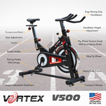 Vortex V500 Performance Home Spin Bike